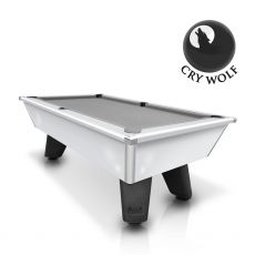 Cry Wolf - Gloss White Original Pub/Bar Style - Slate Pool Table - 6ft & 7ft