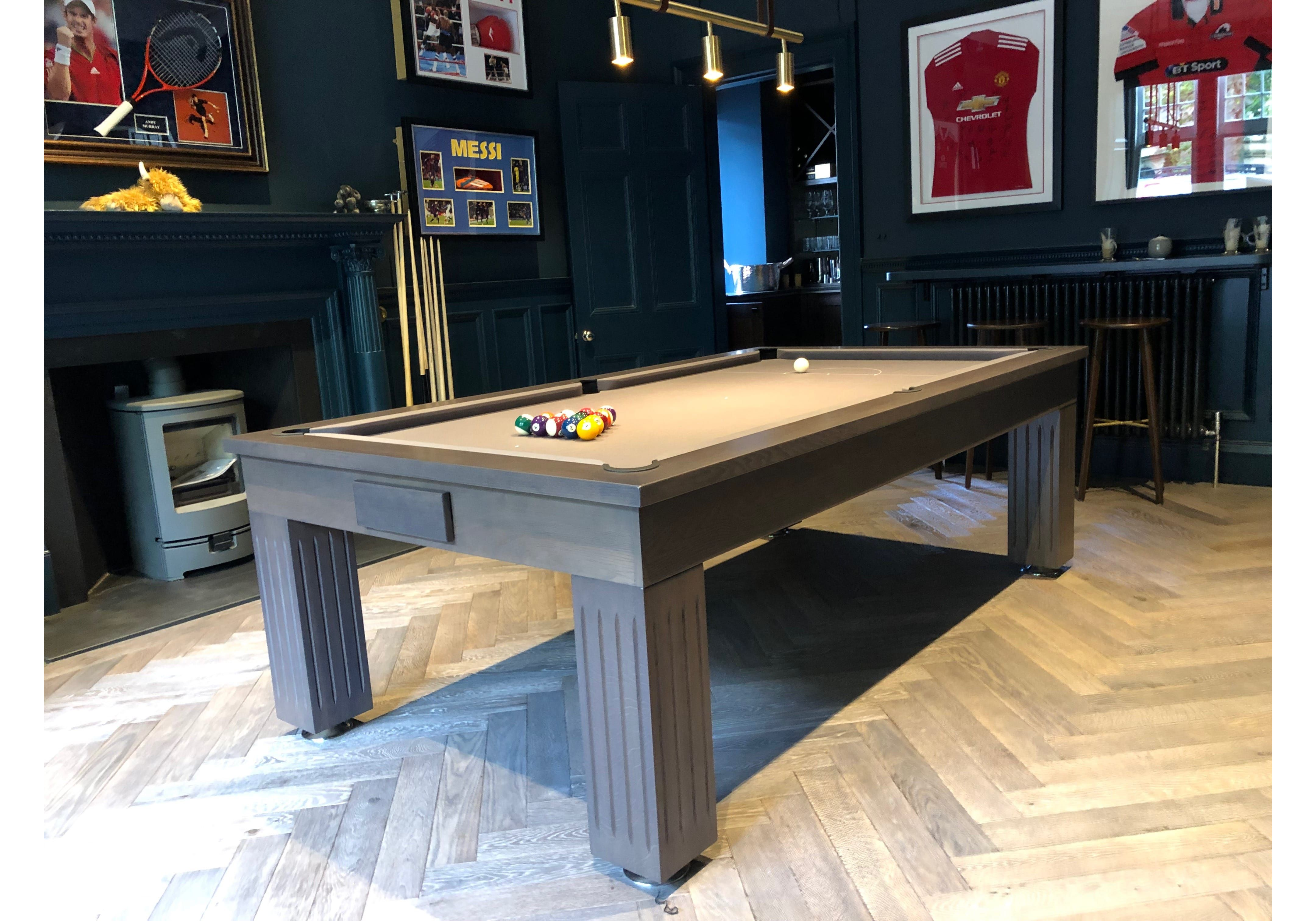 Rex Hardwood Badger Luxury English American Pool Dining Table 8ft Size