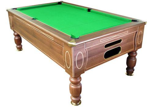 Optima slate pool table in Dark Walnut