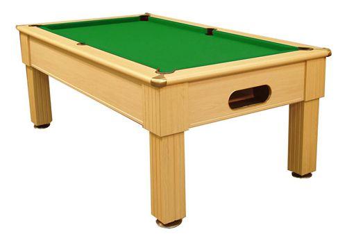 Optima Paris slate bed pool table in Light Oak