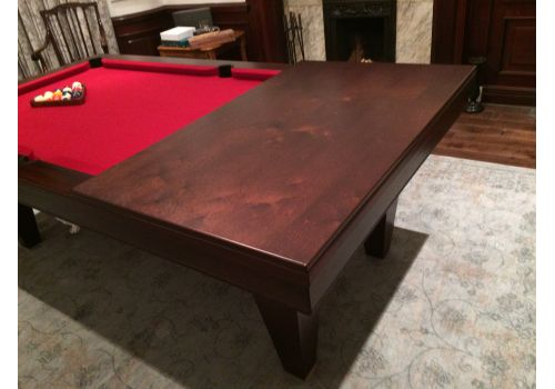 Rex Hardwood | Le'Gets | Pool/Snooker Slate Pool Dining Table | Various Sizes 8ft custom wood finished table to match decor