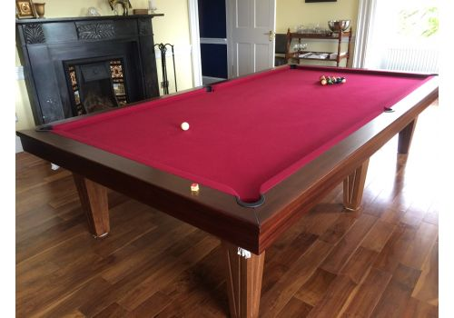 Rex Hardwood | Le'Gets | Pool/Snooker Slate Pool Dining Table | Various Sizes 10ft walnut with custom grooved legs