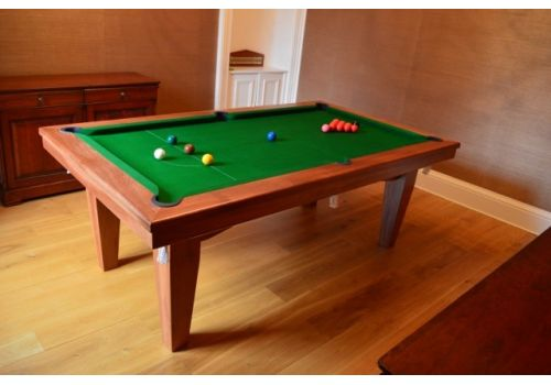 Rex Hardwood | Le'Gets | Pool/Snooker Slate Pool Dining Table | Various Sizes 7ft Light Walnut