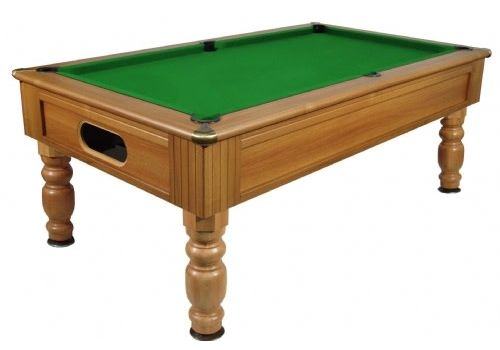 Monaco slate bed pool table by Optima in Walnut