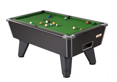Supreme Winner pool table in Black Pearl with Green Cloth