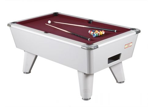 Supreme Winner Aluminium Pool Table - Burgundy Cloth