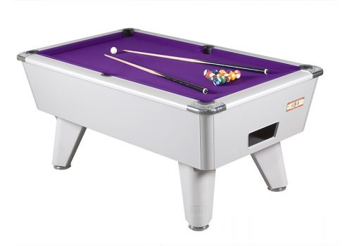 Supreme Winner Aluminium Pool Table - Purple Cloth