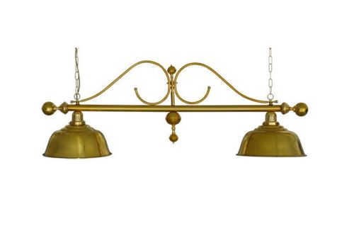 Deluxe Scrolled Brass Pool Lamp
