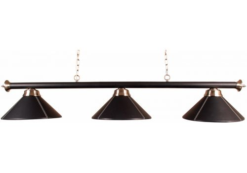 Black Leather 3 Shade Lamp