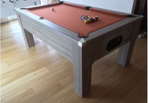 CryWolf Driftwood Square Leg Pool Table with Smart Paprika