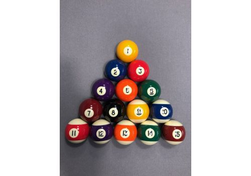 "2 1/16"" Aramith Premier Spots & Stripes American Balls (For use on Snooker Tables)"