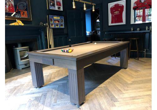 Rex Hardwood | Badger | Luxury Slate Pool Dining Table | 8ft | Matt Chambord Elite Pro Camel