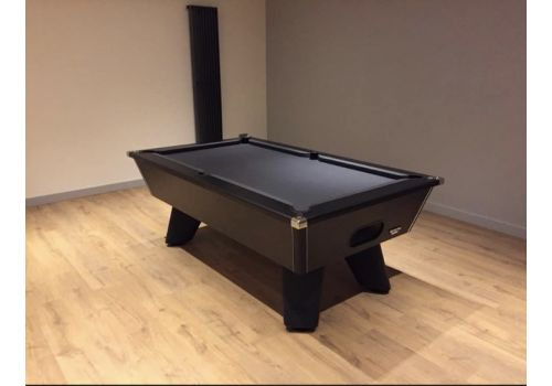 Black Wolf Matt Black Original Tournament Edition Pool Table with Pewter