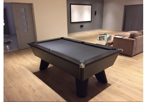Black Wolf Matt Black Original Tournament Edition Pool Table with Smart Pewter