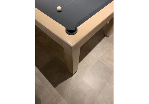 Rex Hardwood | Sovereign 2 | Luxury Pool/Snooker Dining Table | 6ft, 7ft & 8ft | Limed Oak with Smart Pewter Cloth