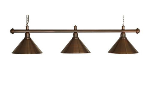 Brushed Copper Lamp Set 3 Shade