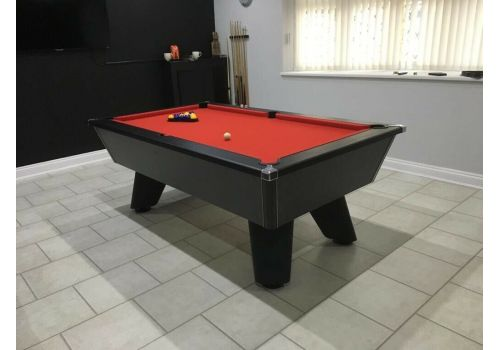 Black Wolf Matt Black Original Tournament Edition Pool Table with Smart Red