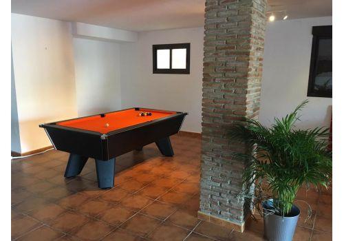 Black Wolf Matt Black Original Tournament Edition Pool Table with Smart Orange