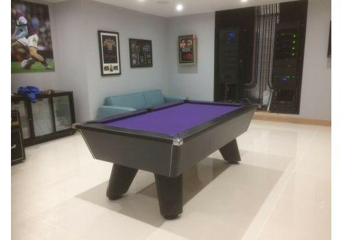 Black Wolf Matt Black Original Tournament Edition Pool Table with Smart Purple