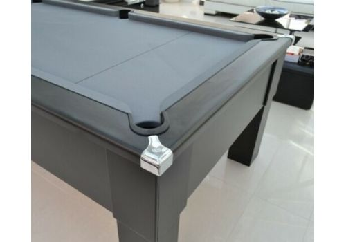 CryWolf Matt Black Square Leg Pool Table with Special Edition Smart Pewter