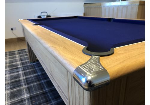 Gatley Traditional Pool Table - Supreme Slimline Prince Pool Table Oak French Navy