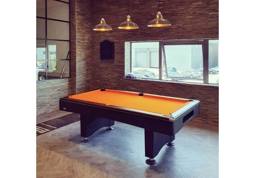 Buffalo | Eliminator 2 (II) | Black | American Pool Table | Elite Pro Orange