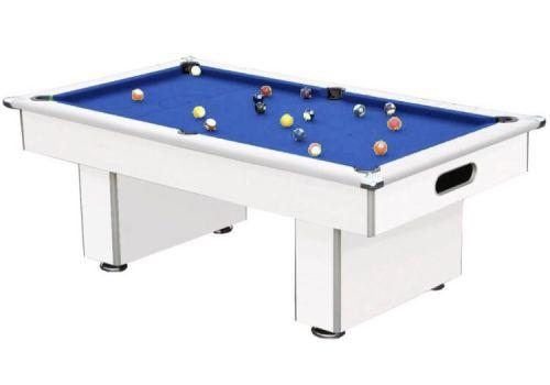 Gatley Classic Slimline Matt White Slate Pool Table