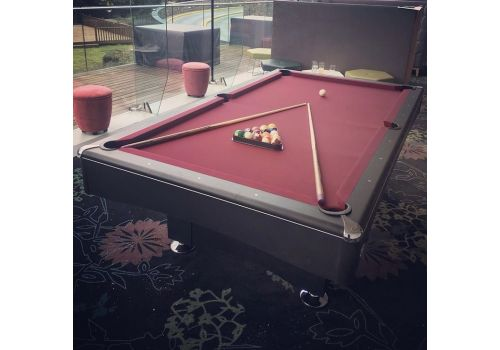 Buffalo | Eliminator 2 (II) | Black | American Pool Table | Atlas Burgandy
