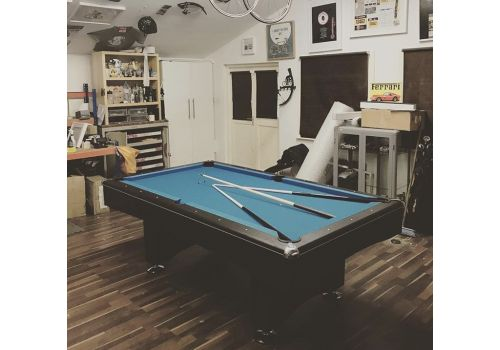 Buffalo | Eliminator 2 (II) | Black | American Pool Table | Electric Blue