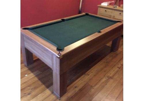 CryWolf French Walnut Square Leg Pool Table with Smart Ranger Green