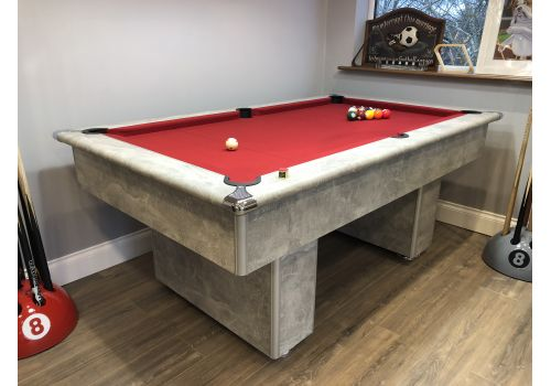 6ft Gatley Classic Slimline Torino Showroom Pool Table In Italian Grey with Smart Windsor Red Cloth