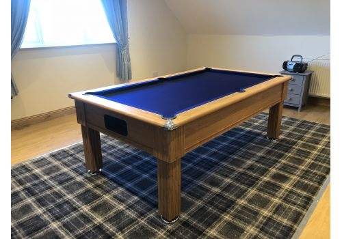 Gatley Traditional Pool Table - Supreme Slimline Prince Pool Table - Oak French Navy