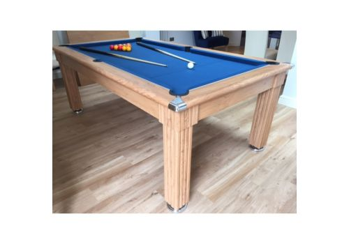 Gatley Traditional Diner Pool Table in Oak with Slate Smart Cloth