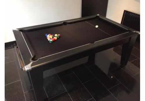 Classic Diner Pool Table in Black by Gatley