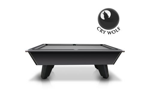 Black Wolf Matt Black Cry Wolf Original Tournament Edition Pool Table