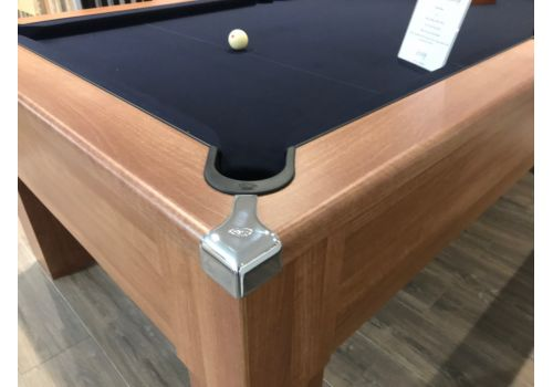 CryWolf French Walnut Square Leg Pool Table with Smart Black