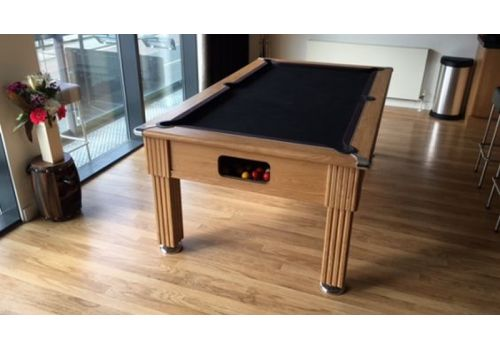 Gatley Traditional Pool Table - Supreme Slimline Prince Pool Table - Oak Black