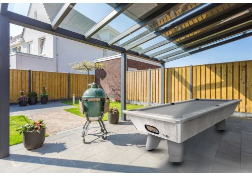 Outdoor Grey Wolf Pool Table by Cry Wolf in Urban Grey
