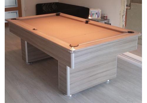 Gatley Classic Slimline Driftwood Slate Pool Table 7ft Smart Taupe