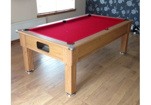 Gatley Traditional Pool Table - Supreme Slimline Prince Pool Table - Oak Red