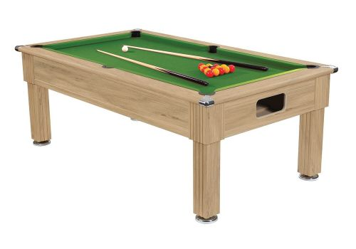 Gatley Traditional Pool Table - Supreme Slimline Prince Pool Table - Oak Green