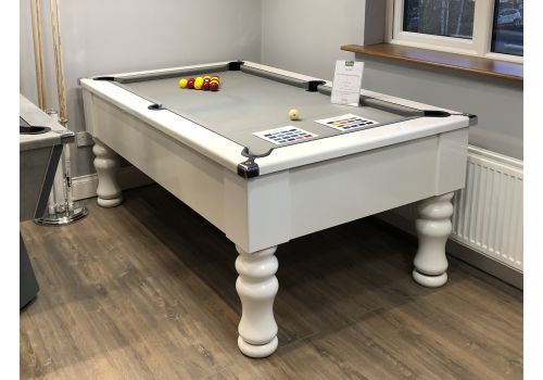 Cry Wolf | Gloss White | Slate Pool Table | Turned/Round Leg | 6ft & 7ft
