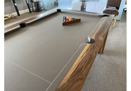 Rex Hardwood | Bonnie Badger | Luxury Slate Pool Dining Table | 6ft & 7ft | Walnut with Taupe