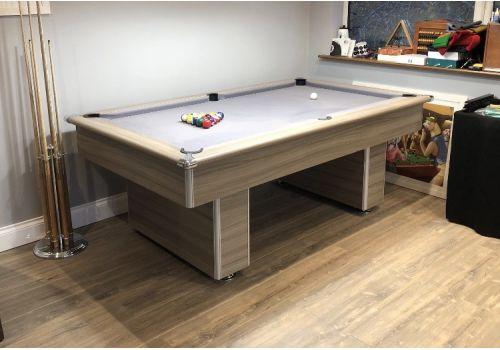 Gatley Classic Slimline Driftwood Slate Pool Table 7ft Smart Silver