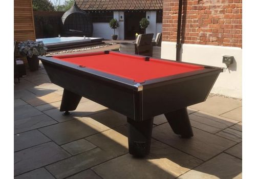 Black Wolf Matt Black Cry Wolf Original Tournament Edition Pool Table Elite Pro Bright Red