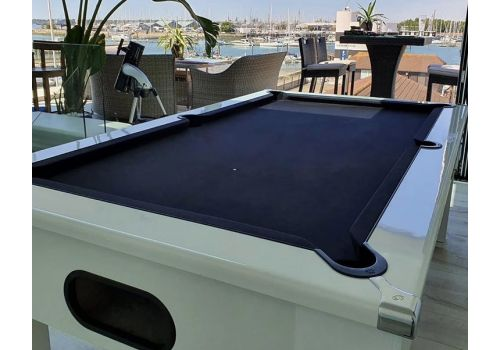 CryWolf Gloss White Square Leg Pool Table with Smart Black