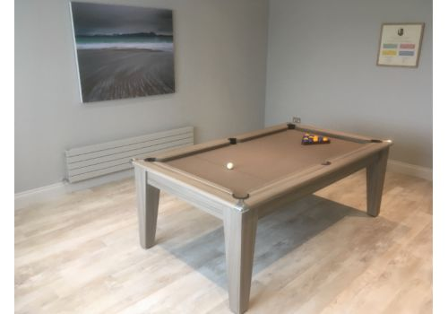 Gatley Clssic Diner Pool Table in Driftwood with Smart Taupe cloth