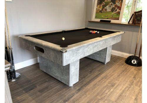 Gatley Classic Slimline Italian Grey Slate Pool Table 7ft Size Smart Black