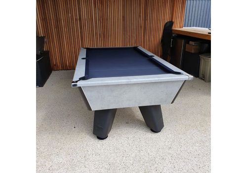 Outdoor Grey Wolf Pool Table by Cry Wolf in Urban Grey With Marine Blue Cloth