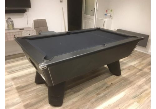 Black Wolf | Matt Black | Slate Pool Table | Tournament Edition | 6ft & 7ft